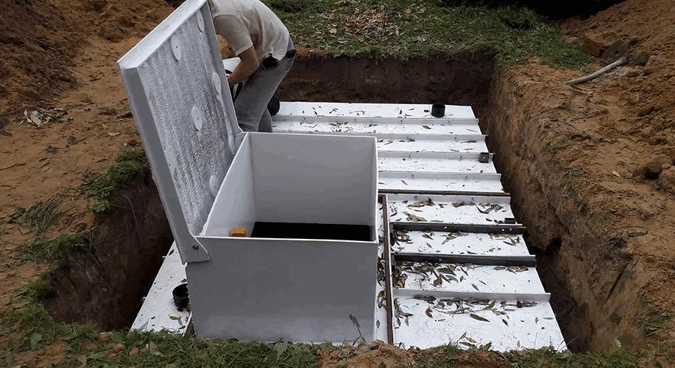 Как установить пластиковый погреб?