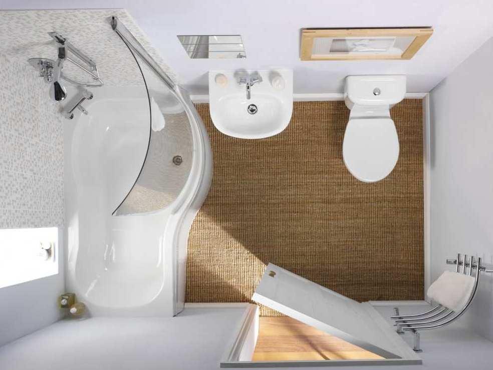 Как увеличить маленькую ванную комнату