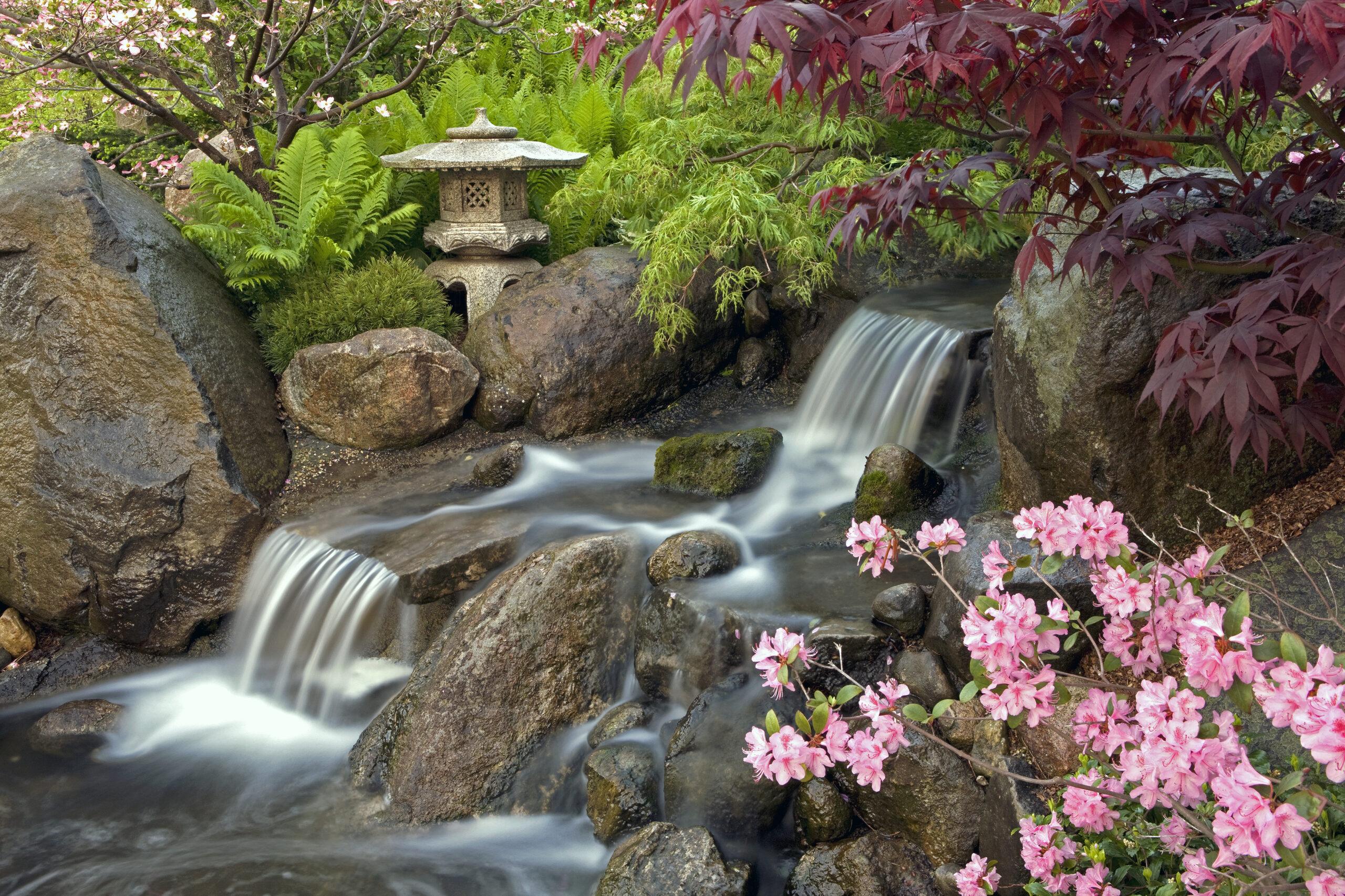 Виды водопадов для японского сада