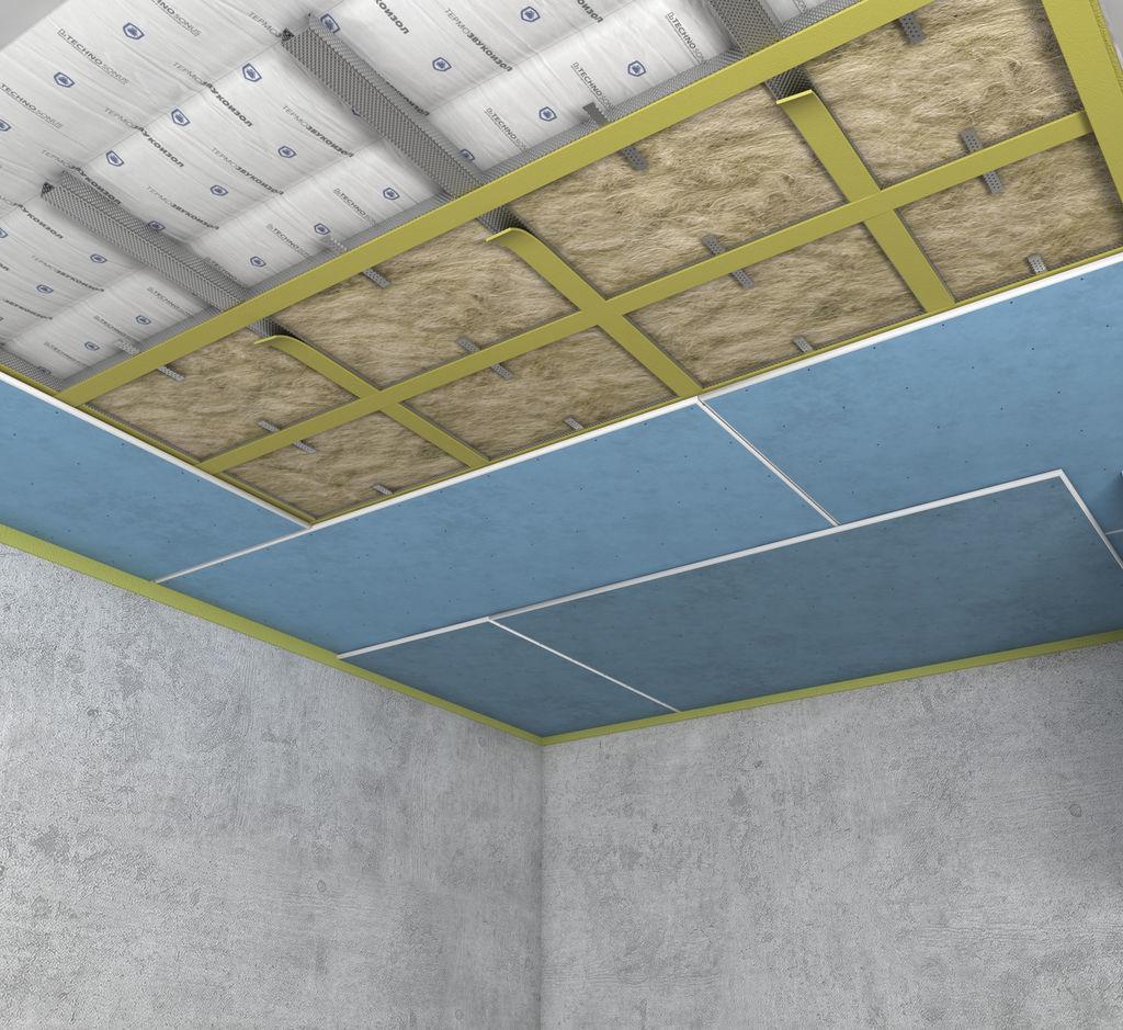Подготовка потолка к шумоизоляционным работам