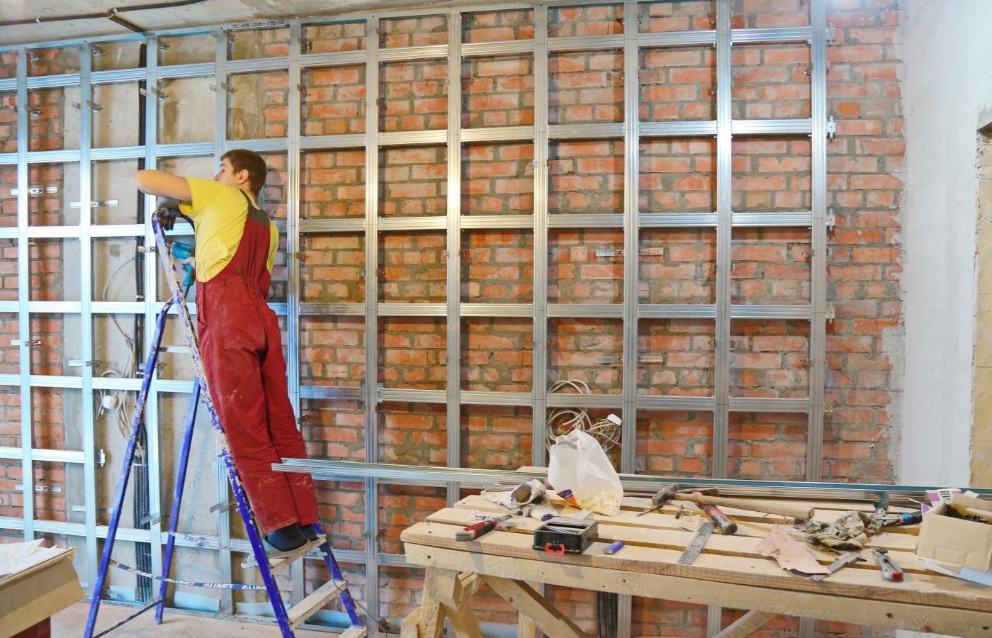 Подготовка стен под монтаж гипсокартона